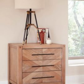 Auburn White-Washed Nightstand