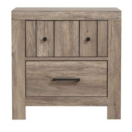 2-Drawer Nightstand Rustic Oak