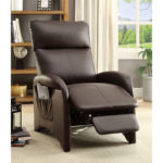 Leatherette Compact Recliner Chair