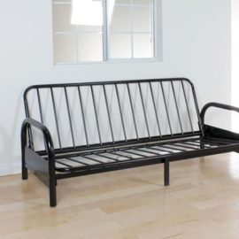 Black futon sofa frame