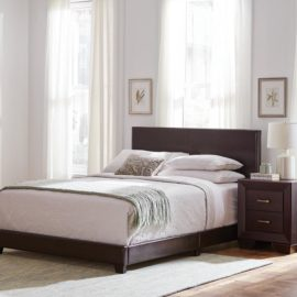 DORIAN UPHOLSTERED BED brown