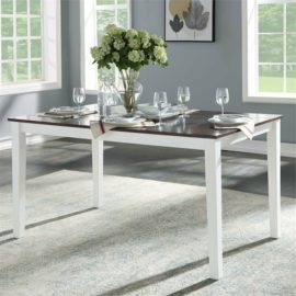 farmhouse white 7pc dining set