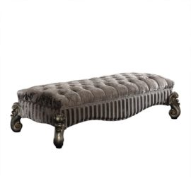 Traditional Silver Bed Bench