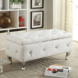 White Elegant Ottoman in 6 Colors