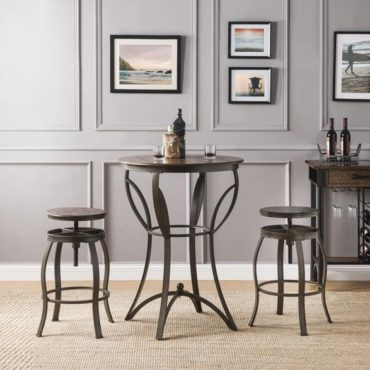 Modern adjustable bar table set