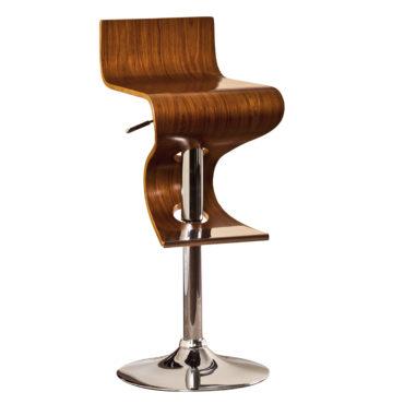 Stack Curved & Chrome Barstool