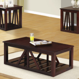 Contemporary 3-Pcs Coffee Table Set