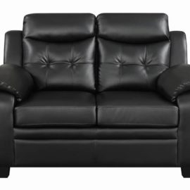 Finley Tufted Upholstered Loveseat Black