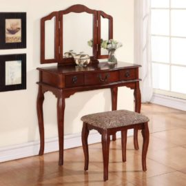 Classic 3 drawer vanity set Cherry