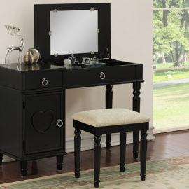 Bedroom Storage Vanity Desk 4 Colors