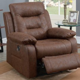 Classic Faux Leather Power Recliner