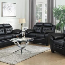 Finley Tufted Upholstered Sofa Black
