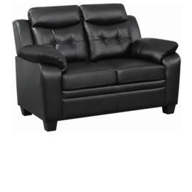 Finley Tufted Upholstered Loveseat Black