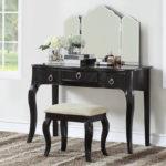 black Luxurious 3 Drawers Vanity Set 4 Colors