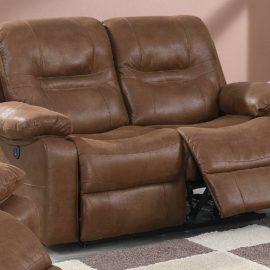 Classic Brown USB Power Motion Chair