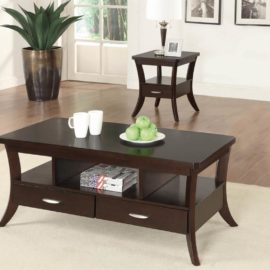 2-Drawer Coffee Table Espresso