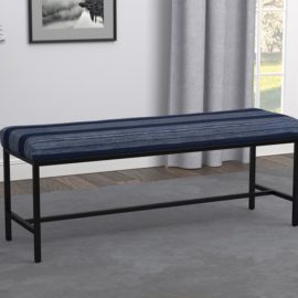 Striped Bench Gunmetal And Blue