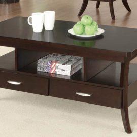2-Drawer Coffee Table Espresso