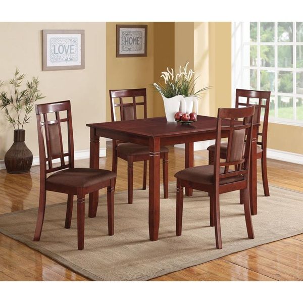 Cherry 5pc counter-high dining set