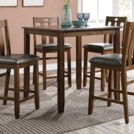 Walnut 5PC Counter-Hight Dining Set