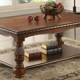 Traditional Ash Burl Coffee Table