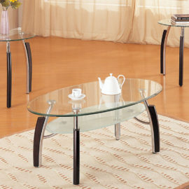 Modern 3pc coffee table set