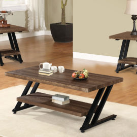 Z Metal Frame Coffee Table Set