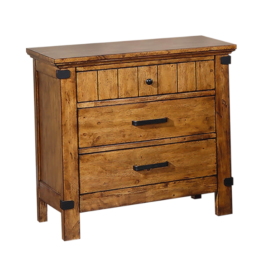 Brenner 3-Drawer Night Stand Rustic Honey