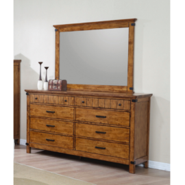 Brenner 8-Drawer Dresser Rustic Honey