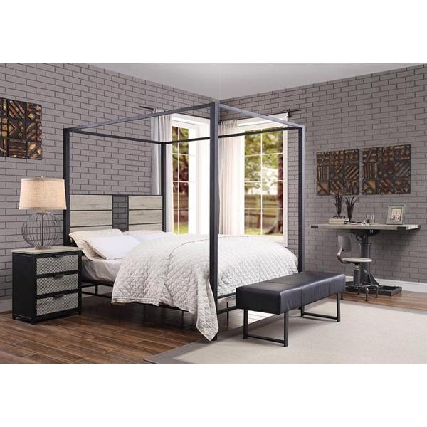 Baara twin or queen canopy bed frame