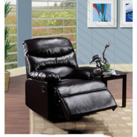 Arcadia Black PU Recliner