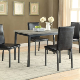 Garza Rectangular Dining Table Black
