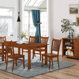 Marbrisa 7pc Rectangular Dining Table Sienna Brown