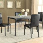 Garza Rectangular Dining Table Black