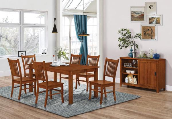 Marbrisa 7pc Rectangular Dining Table Sienna Brown