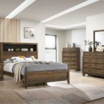 Krandall Nightstand Bed Frame Wood Finish