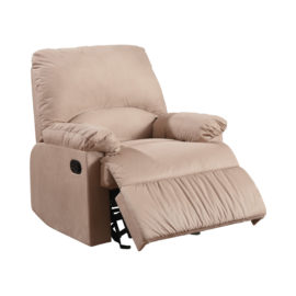 Upholstered L Brown Motion Recliner