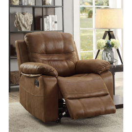Brown Plush Recliner rocker