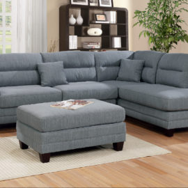 3-Pcs Sectional Set in 3 Colors