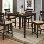 5-Piece Counter Height Dining Set Cappuccino