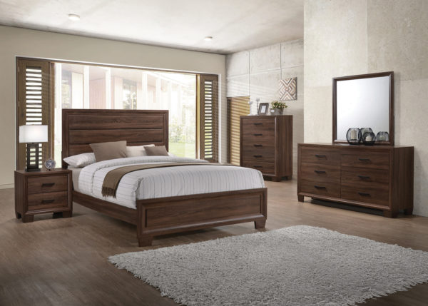 Brandon Panel Bed Medium Warm Brown