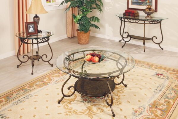 Traditional Brass Coffee Table