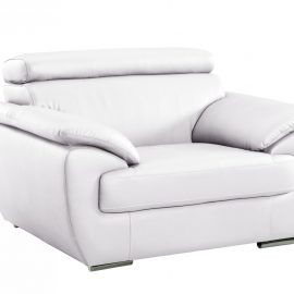 White Leather Modern Chair