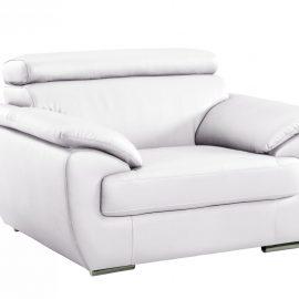 White Leather Modern Chair