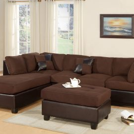 Two-Tone Brown 3 Pc Sectional