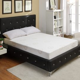 AC-BED16 Chrystal Button Tufted Upholstered Bed