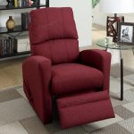 Swivel Manual Recliner Chair Red