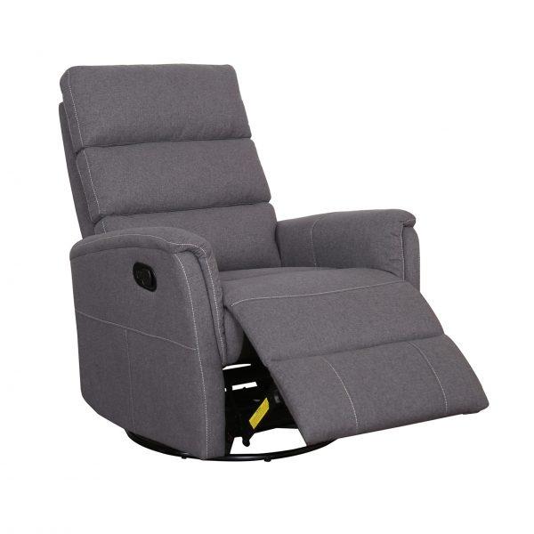 Tyler recliners in Grey, Orange