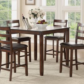 5 Pc Mahogany Dining Set