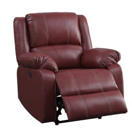 Red Power Recliner